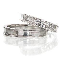 【送料無料】ペアリング結婚指輪マリッジリングブライダルジュエリーダイヤモンド0.15ctプラチナ900(PT900)指輪オリジナルリング無垢人気メンズレディース【05P12Oct15】