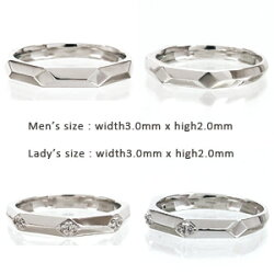 【送料無料】ペアリングダイヤモンド0.06ctプラチナ900(PT900)オリジナルリングセットリング指輪ペアアクセサリー結婚指輪マリッジリング人気無垢【05P12Oct15】