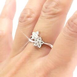 【送料無料】ダイヤモンドリングK18ゴールドK18WGK18PGK18YG0.50ct指輪メモリアルダイヤモンド記念日ジュエリーフラワー