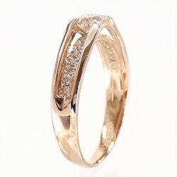 【送料無料】ダイヤモンドリングK18ゴールドK18WGK18PGK18YG0.37ct指輪