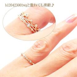 ダイヤモンドリングK10ゴールド10金ダイヤ0.07ctミル打ち風指輪小指ピンキーリングレディース送料無料