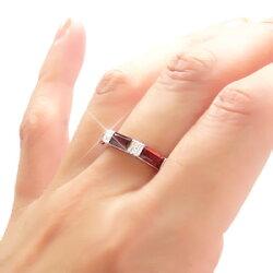 【送料無料】カラーストーンバケットリングK18ゴールド18金ダイヤモンド0.08ct≪1月誕生石ガーネット≫指輪オリジナルリングレディース