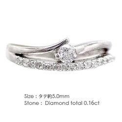 【送料無料】ダイヤモンドリングプラチナ900PT9000.16ct小指ピンキーリングミディリングファランジリング指輪レディース