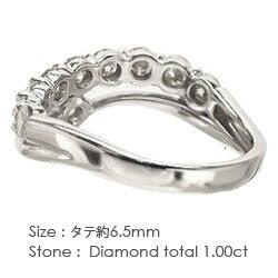 【送料無料】ダイヤモンドリングK18ゴールド18金レディース1.00ct指輪メモリアルダイヤモンド記念日ジュエリーハーフエタニティリング