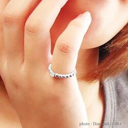 ダイヤモンドリング0.10ctプラチナ900(PT900)丸玉ボールレディースジュエリー【送料無料】