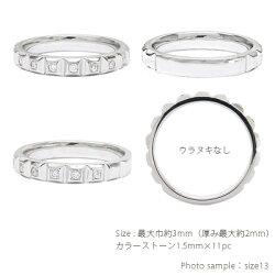 18金カラーストーンリングK18ゴールドハーフエタニティリング誕生石指輪レディースジュエリー【送料無料】