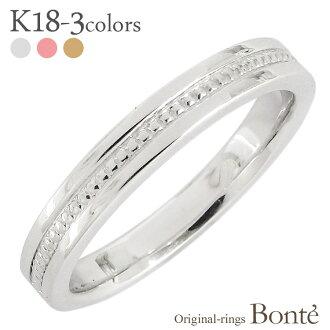 k18黄金環18錢原始物人分歧D珠寶原料金屬環金屬環[郵費免費][支持便利店領取的商品]白色情人節禮物