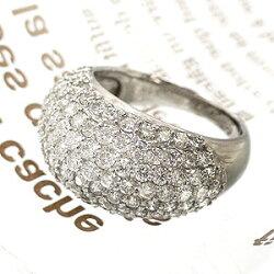 【送料無料】パヴェダイヤリング天然ダイヤモンド3.0ct/K18ゴールドパヴェリング指輪18金レディース