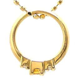 ベビーリングK18ゴールド18金11月誕生石シトリントパーズダイヤモンド0.02ctペンダントトップ出産祝い誕生祝い記念品ギフトプレゼント名入れ刻印【送料無料】
