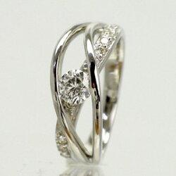 【送料無料】ダイヤリングダイヤモンド11石0.45ctK18ゴールド指輪18金レディース