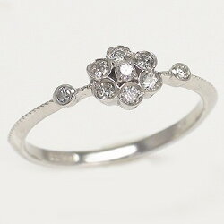 pt900ダイヤモンドリングプラチナ9000.16ctフラワーアンティーク指輪レディース【送料無料】【コンビニ受取対応商品】