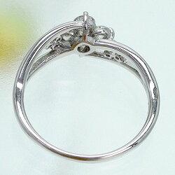 【送料無料】ダイヤモンド0.5ct指輪K18ゴールドフラワーモチーフ18金レディース
