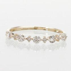 【送料無料】エタニティリングダイヤモンド0.3ctシンプルリング
