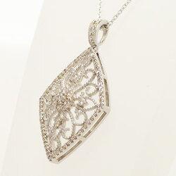 【送料無料】プラチナ900アンティーク調ダイヤモンド0.50ctペンダント・ネックレス