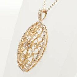 【送料無料】アンティーク調ダイヤモンド0.50ctペンダント・ネックレスK18ゴールド18金