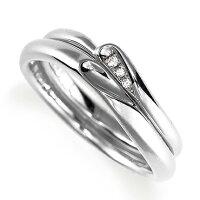 ペアリング(2本セット)結婚指輪マリッジリング結婚記念プラチナ900合わせるとハート模様ダイヤモンドリング《LelierM0867》【刻印無料ケース付き送料無料】【RCP】【0601カード分割】