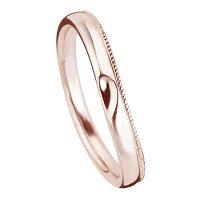 ペアリング(2本セット)結婚指輪マリッジリング結婚記念K18ピンクゴールドミル打ち加工ふたつを合せるとハート模様《M2227》【刻印無料ケース付き送料無料】【RCP】【0601カード分割】