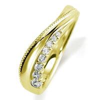 ペアリング(女性用)結婚指輪マリッジリング結婚記念K18イエローゴールドダイヤモンドリング《NourishM0846L》【刻印無料ケース付き送料無料】【RCP】【0601カード分割】