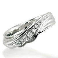 ペアリング(女性用)結婚指輪マリッジリング結婚記念プラチナ900ダイヤモンドリング《NourishM0982L》【刻印無料ケース付き送料無料】【RCP】【0601カード分割】