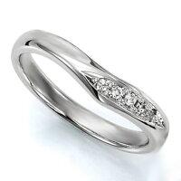 ペアリング(女性用)結婚指輪マリッジリング結婚記念K18ホワイトゴールドダイヤモンドリング《WishM0036L》【刻印無料ケース付き送料無料】【RCP】【0601カード分割】