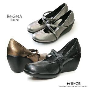 リゲッタ パンプス 7cm 38R241 テレビで話題 Re:GetA はきやすい 歩きやすい…