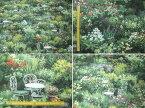 庭園 ガーデン デジタルプリント インクジェット 生地 花柄