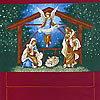 RJR-1737 イエスの誕生 アドベントカレンダー/ダークレッド(未完成品)