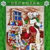 【クリスマスパネル】MS-2801 プレゼント準備中のサンタ カレンダーパネル/グリーン 67.5*110 ...