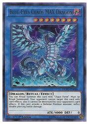 英語版(北米版) シングル5500円でパックプレゼント! 青 Blue-Eyes Chaos MAX Dragon(U)(1st)(ブルーアイズ・カオス・MAX・ドラゴン)(DUPO)画像
