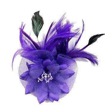 コサージュ 入学式 コサージュ 成人式 2way ヘッドドレス フェーザー コサージュ 大輪 髪飾り fh18005dpe