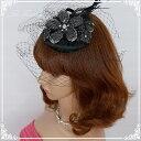 ヘッドドレス 髪飾り 花かんむり 花嫁 ウエディング ヘッドドレス fhds001bk