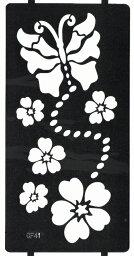 THE FANTASY ステンシルシート [3枚セット] シール ヘナタトゥー グリッタータトゥー 用 花 cf041
