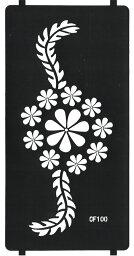 THE FANTASY ステンシルシート [3枚セット] シール ヘナタトゥー グリッタータトゥー 用 cf100