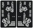 (ファンタジー) TheFantasy ヘナタトゥー グリッタータトゥー 用の ステンシルシート 左右セット 薔薇 hs20