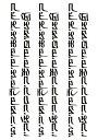 (ファンタジー) TheFantasy タトゥーシール タトゥーシール 文字 hb096 【中型・A5】