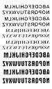 (ファンタジー) TheFantasy タトゥーシール タトゥーシール 英文字 アルファベット hm606 【レギュラー】