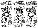 [KING HORSE (キングホース)] タトゥーシール トライバル 鳳凰 hm656 [通常サイズ・3枚入り]