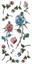 (ファンタジー) TheFantasy タトゥーシール タトゥーシール 薔薇 ht1099 【小型・5枚セット】