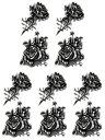 (ファンタジー) TheFantasy タトゥーシール タトゥーシール 薔薇 ht1225 【小型・5枚セット】
