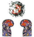 THE FANTASY タトゥーシール [3種3枚・A4] 龍 虎 mq3011