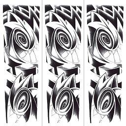 (ファンタジー) TheFantasy タトゥーシール タトゥーシール 肩から手首 トライバル qb3055【特長・3枚セット】