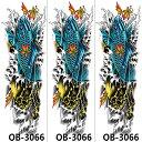 (ファンタジー) TheFantasy タトゥーシール タトゥーシール 肩から手首 鯉 qb3066【特長・3枚セット】