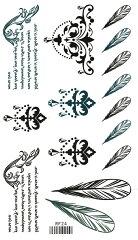 タトゥーシール タトゥーシール 羽毛 アクセサリー/rf24