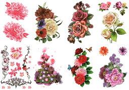 [THE FANTASY (ファンタジー)] タトゥーシール 花 [9種9枚]set057