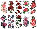 [THE FANTASY (ファンタジー)] タトゥーシール 薔薇 [10種10枚]set312