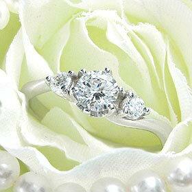 ダイヤモンド婚約指輪 サイズ直し一回無料 0.4ct F SI1 VERY-GOOD Sラインサイドメレ6本爪 プラチナ Pt900 婚約指輪(エンゲージリング)