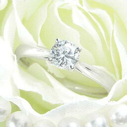 ダイヤモンド婚約指輪 サイズ直し一回無料 0.5ct F VVS2 EXCELLENT シンプル4本爪 プラチナ Pt900 婚約指輪(エンゲージリング)