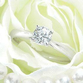 ダイヤモンド婚約指輪 サイズ直し一回無料 0.2ct E VVS2 EXCELLENT シンプル4本爪 プラチナ Pt900 婚約指輪(エンゲージリング)