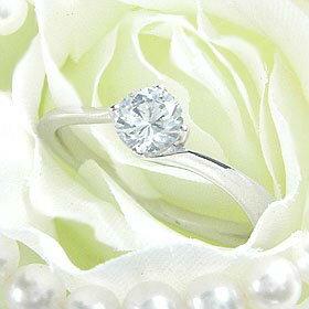 ダイヤモンド婚約指輪 サイズ直し一回無料 0.3ct F VVS1 EXCELLENT カーヴライン4本爪 プラチナ Pt900 婚約指輪(エンゲージリング)