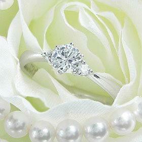 ダイヤモンド婚約指輪 サイズ直し一回無料 0.4ct F VS1 EXCELLENT H&C 3EX 両サイドメレ6本爪 プラチナ Pt900 婚約指輪(エンゲージリング)